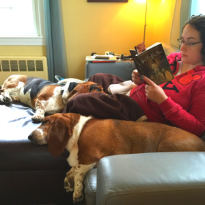 Me and the dogs of the books and dogs blog