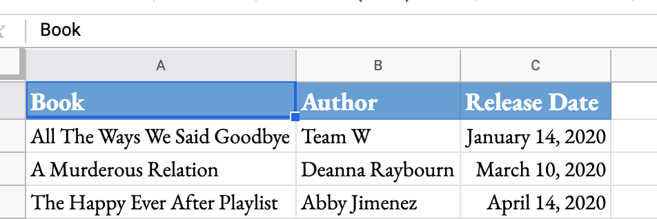 New release Google Doc to organize your reading