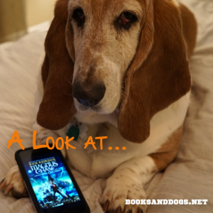 The Ship of the Dead by Rick Riordan and a Basset hound