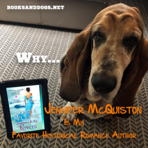 Jennifer McQuiston's Summer is for Lovers and a basset hound