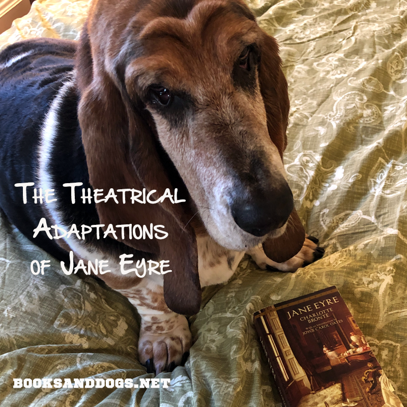 Jane Eyre by Charlotte Bronte and a basset hound